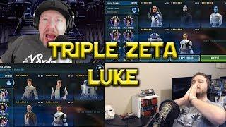 Star Wars: Galaxy Of Heroes - Triple Zeta CLS Commander Luke VS Threxus Rex Lead