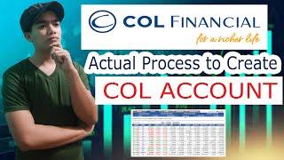 Part 1 HOW TO CREATE COL FINANCIAL ACCOUNT l PAANO GUMAWA NG ACCOUNT SA COL FINANCIAL