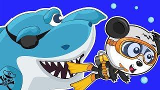 Развивающие Мультики Про Машинки – Сокровища Пиратов и Зубастая Акула – Веселое Видео Для Детей
