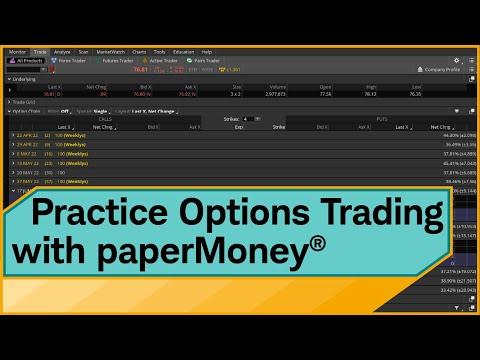 thinkorswim® paperMoney®: Options Trading Simulator Tutorial