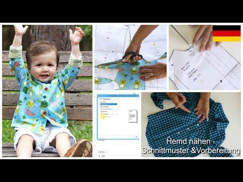Hemd nähen für kleine Männer- Einführung zum Schnittmuster & Zuschneiden