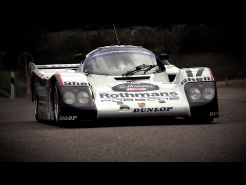 All Out in a Le Mans Winning Porsche 962