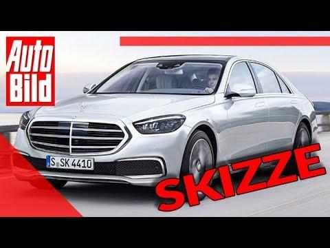 Mercedes S-Klasse (2020): Auto - neu - Skizze - Luxuslimousine - Infos