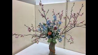 Ikebana Spring Exhibition, 2019 (Angyo, Japan)
