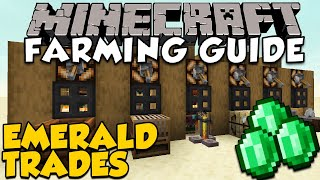 The BEST Villager Trades For Farming Emeralds | Minecraft Farming Guide