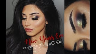 New Years Eve Makeup Tutorial | HUDABEAUTY Smokey Obsessions Palette | Nadia Maya
