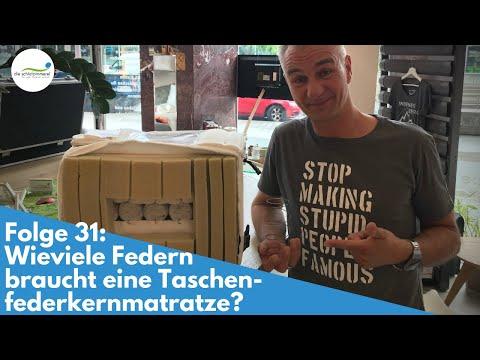 Taschenfederkernmatratze - wieviele Federn sind nötig? | Folge 31
