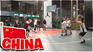 Playing Pick Up Basketball in China!