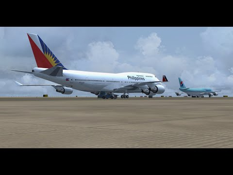 FSX PMDG 747-400 V3 Philippine Airlines RP-C7471 Manila [Replay] - tiger 747