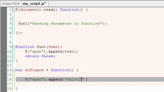 Custom Functions: jQuery