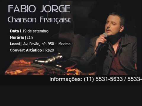 Fábio Jorge, sábado (19/09) no Café Paon em Moema.