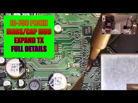 Icom IC-756 PROIII MARS/CAP Modification EXPANDED TX - Take a Bath
