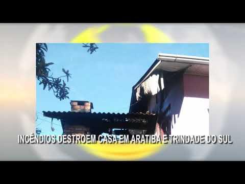 Incêndios destroem casas em Aratiba e Trindade do Sul.