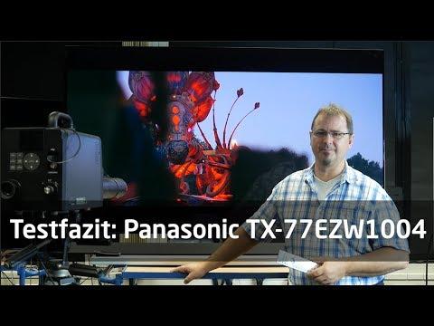 99 Sekunden Testfazit: Panasonic TX-77EZW1004 OLED-TV