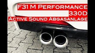NWBMW - F31 330D BMW Performance Active Sound Abgasanlage