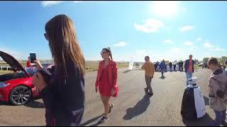 Тест-драйв Тесла в Красноярске - Камера возле машины (4K 360)