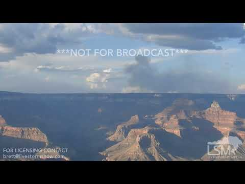 8-4-2018 Grand Canyon, Az Lightning causes wildfire that closes down sections of Grand Canyon