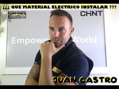 Instalación eléctrica ¿¿¿ QUE MATERIAL ELECTRICO INSTALAR ???