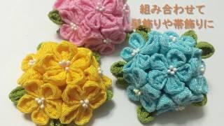 和小物TV手芸  縫わずに簡単 つまみ細工風 手作り雑貨コサージュ#006 How To Make Flowes 姫花コサージュ