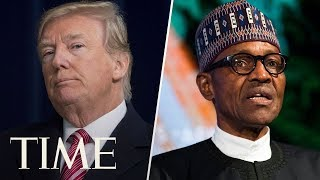 President Trump Hosts A Joint Press Conference With Nigerian President Buhari | TIME