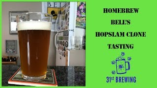 Bells Brewery Hopslam Clone All-Grain Tasting Home Brew