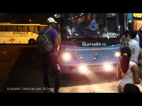 APSRTC garuda Plus mercedes benz bus at MGBS,Hyderabad