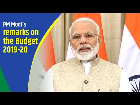 PM's statement on the Budget 2019-20