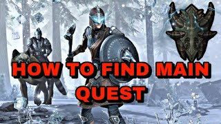 ESO: HOW TO FIND YOUR MAIN QUEST LINE