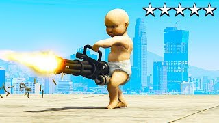 PLAYING GTA 5 AS A NEW BORN BABY! (GTA 5 Mods)