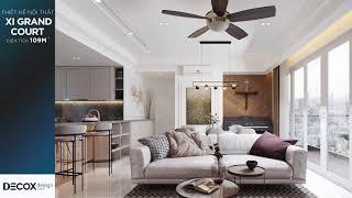 Mẫu thiết kế nội thất căn hộ Xi Grand Court phong cách Bán cổ...