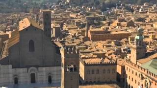Drone flight above Bologna downtown - Amazing Italy Tour Food and Travel
