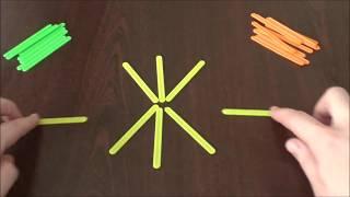 Выполнение фигурок из палочек