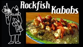 Shishkebab Your Rockfish With Rosemary, on a Bed of Pilaf