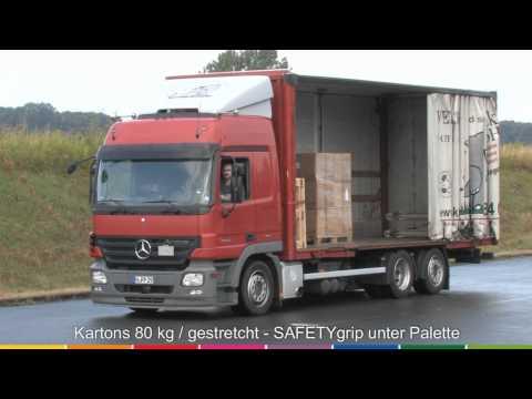 Ladungssicherung mit Antirutschmatten (SAFETYgrip) von MULTi Cargo   www.nordpack.de