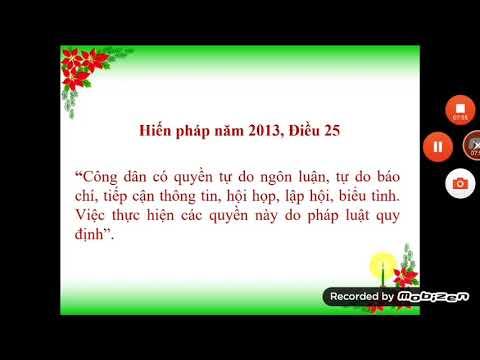 GDCD 8: QUYỀN KHIẾU NẠI, TỐ CÁO VÀ TỰ DO NGÔN LUẬN