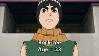 Naruto All Characters Age Comparison