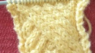 Sweeping Cable Hindi Knitting (केबल डिजाईन हिंदी में )