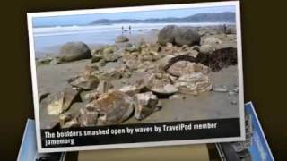 preview picture of video 'Moeraki Boulders and Oamaru Penguins Jamemorg's photos around Oamaru, New Zealand (travel pics)'