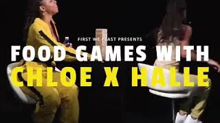 Food Games With Chloe x Halle | First We Feast