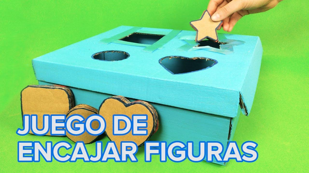 Juguete de encajar figuras | Manualidades para bebés y niños