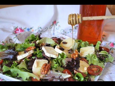 Cómo hacer Ensalada templada de queso de cabra y miel | El Dulce Paladar