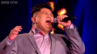 Pinoy Joseph Apostol Beats The Diva on THE VOICE UK 2013