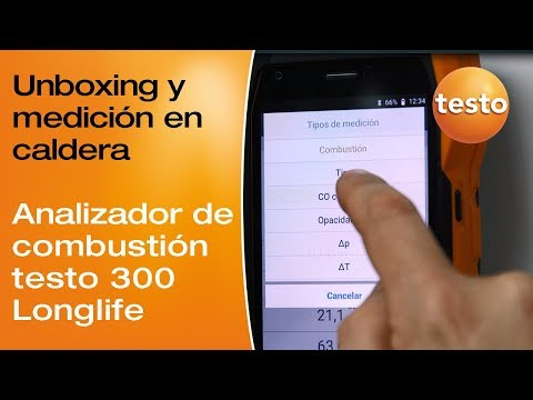 Video unboxing y aplicación del testo 300 Longlife