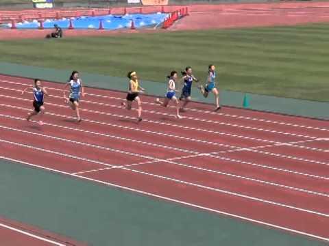 1部会 小学校陸上競技大会 5年女子100m決勝 2014.5.20