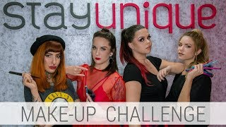 MAKE-UP CHALLENGE in Stayunique | 4 Makeup Artist x GLAM líčenie 4x inak