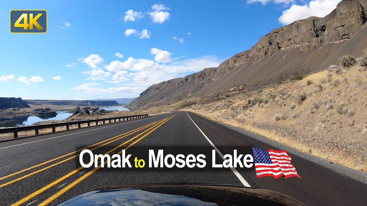 USA Road Trip – Omak WA to Moses Lake WA in 4K