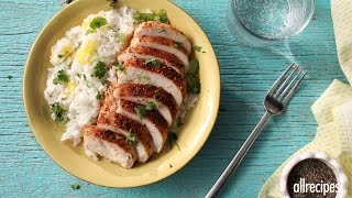 How to Make Caribbean Chicken with Pineapple Cilantro Rice   Chicken Recipes   Allrecipes.com