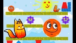 Мультик Игра Лиса ам ням и Колобок 😺😋 Cartoon Game Fox om nom and the Gingerbread man hd