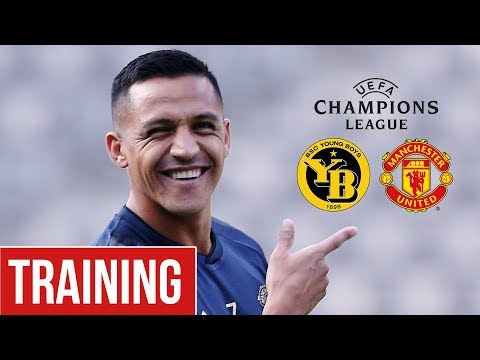 Manchester United train ahead of BSC Young Boys clash!   Man Utd Training   UCL 2018/19
