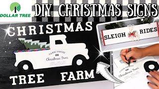DIY DOLLAR TREE CHRISTMAS DECOR SIGNS | 2019 NEW HOLIDAY DIYS